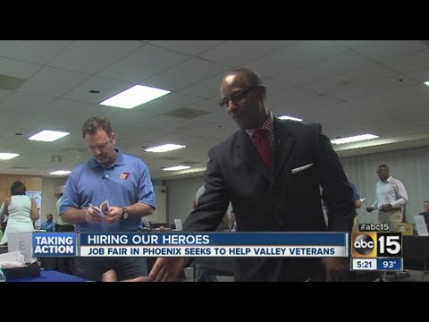 City of Phoenix holds job fair to get military veterans hired