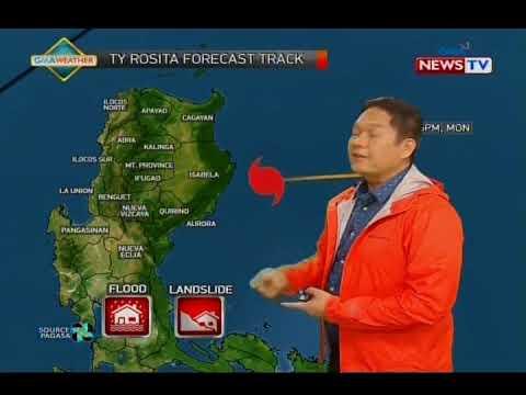 Malaking bahagi ng Luzon, nasa ilalim ng storm warning signals habang papalapit ang typhoon Rosita