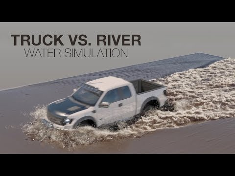 Truck vs muddy water - Phoenix FD 3 simulation