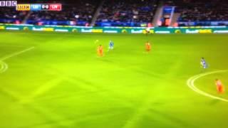 Jamie Vardy's screamer vs Liverpool.