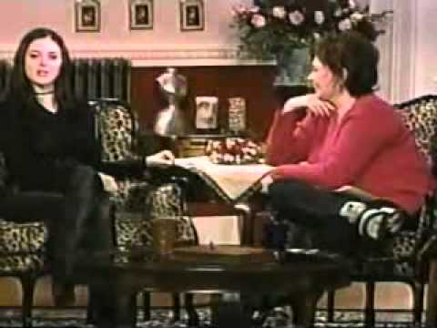 Rose McGowan on The Roseanne Show 1999 (1)