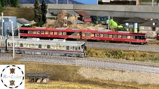 <Nゲージ>JR西日本 七尾線観光列車『花嫁のれん』、521系七尾線、683系『サンダーバード』 Modellbahn Spur N Model Railroad Diorama 鉄道模型