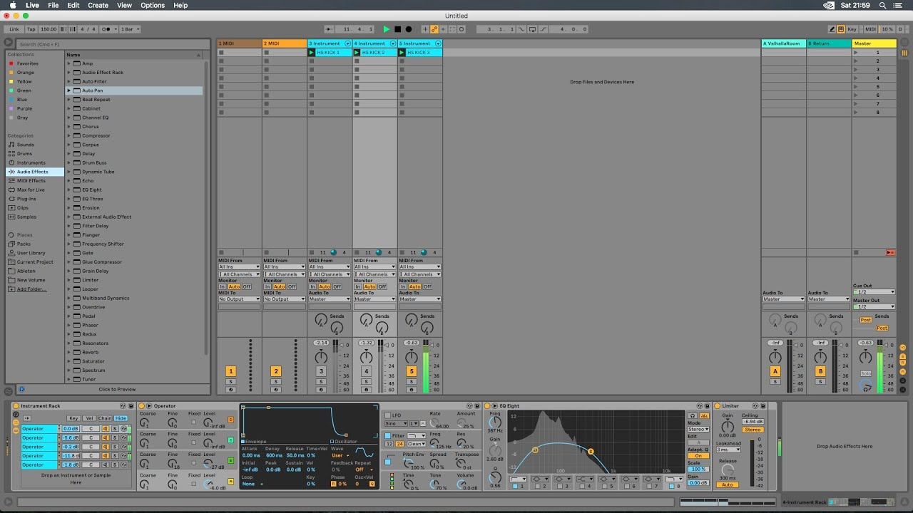 Operator Sound Design Template Hardstyle Oldschool Kick In Ableton Live 10 Free Download Youtube