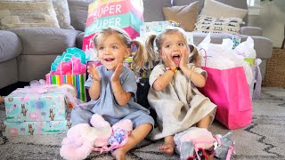 Taytum and Oakley OPENING THEIR GIFTS! (HIDDEN GIFT)
