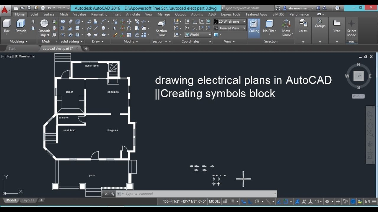 Drawing Electrical Plans In Autocad Creating Symbols Blocktips