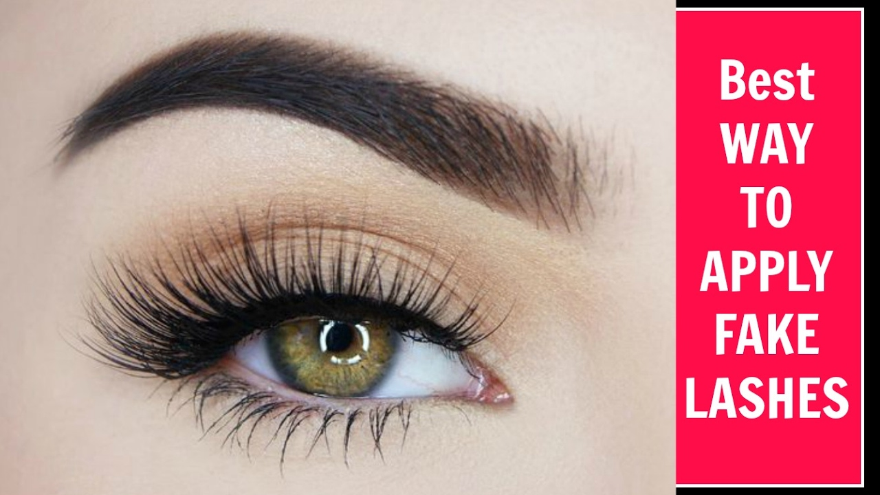How To Make Your False Lashes Look More Real No Lifting Youtube