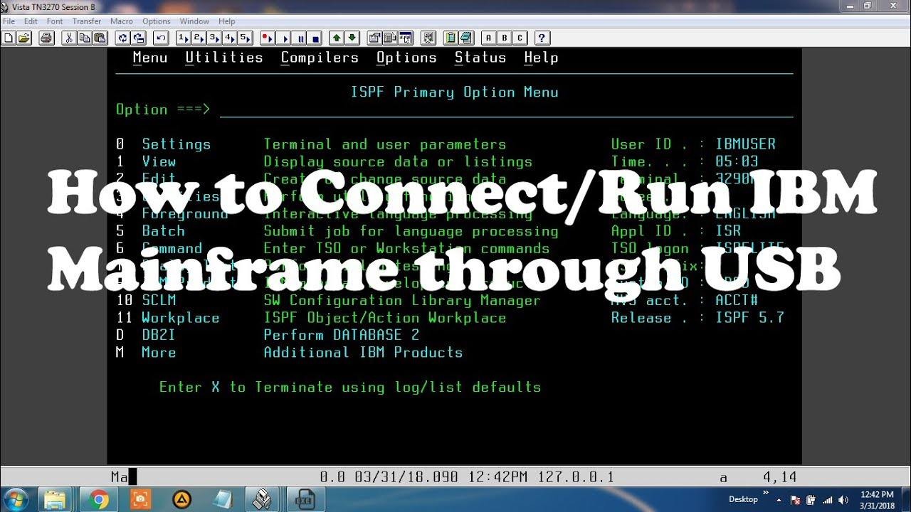 How to Connect/Run IBM mainframe through Pendrive