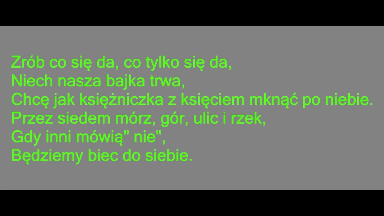 Sylwia Grzeszczak Ksiezniczka Karaoke Tekst Youtube