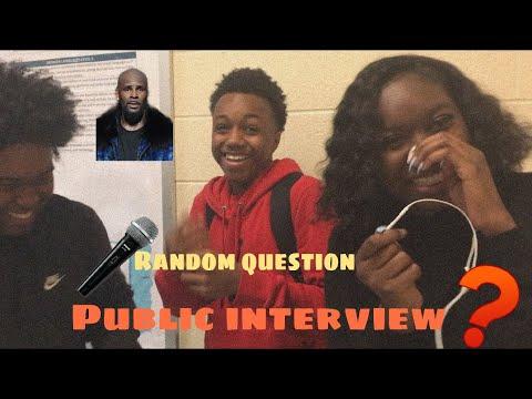 RANDOM QUESTIONS||PUBLIC INTERVIEW ‼️(funny asf🤣)