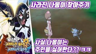 포켓몬스터 울트라 썬 문 공략 - 사라진 나옹이 찾아주기 / 사실 나옹이는 주인을 싫어한다?? ㅋㅋㅋ (포켓몬스터 울트라썬문 공략 / Pokémon Ultra Sun·Moon)