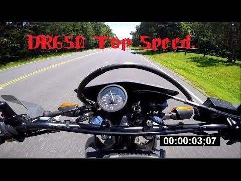 suzuki dr650 top speed - youtube