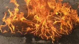 burning off some stąle gasoline