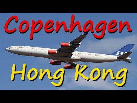 SAS Airlines | Copenhagen - Hong Kong | A340-300 | Economy Class
