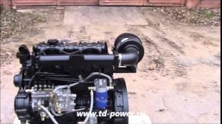 Китайский дизельный двигатель QC490, 58 л.с.