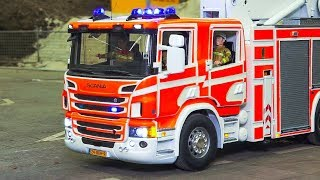 RC SCALE MODEL FIRE RESCUE TRUCK COLLECTION VOL.3!! RC SCANIA, RC MAN, RC MERCEDES-BENZ