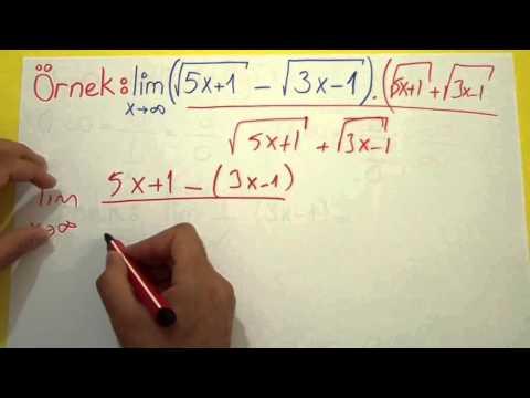 Limit 6 (∞-∞ Ve 0.∞ Belirsizlikleri) Şenol Hoca Matematik