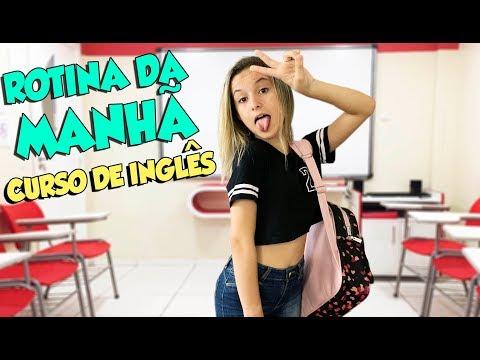 MINHA ROTINA DA MANHÃ DE SABADO - CURSO DE INGLÊS