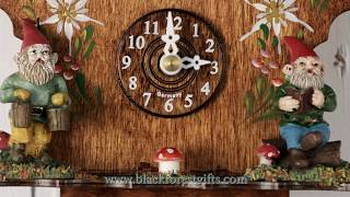 555sq Miniature Black Forest Clock with Knomes