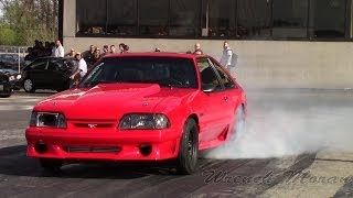 Ford Mustang GT Drag Racing│The Turbo Fox! 2014