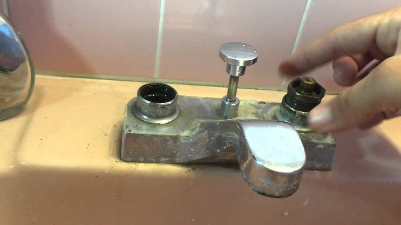 Leaky Bathroom Faucet Youtube how to fix a dripping american standard bathroom faucet - youtube