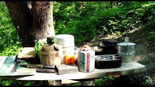 Обзор полевой кухни(посуда горелки,ножи)