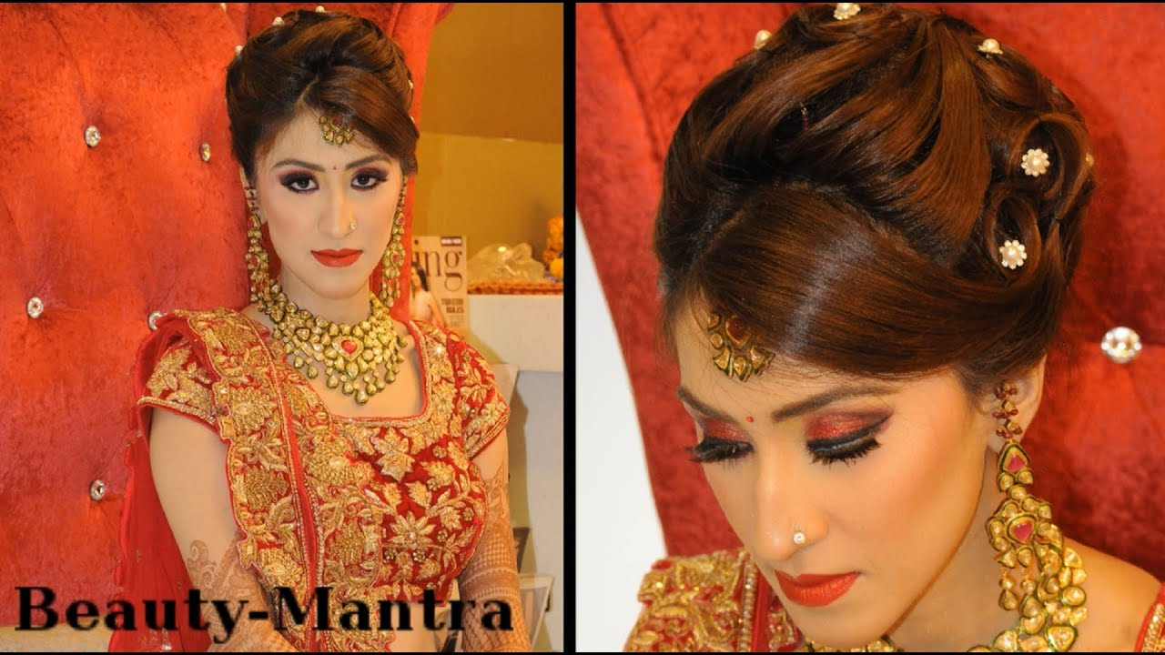 indian wedding makeup - gorgeous reception look - complete hair and