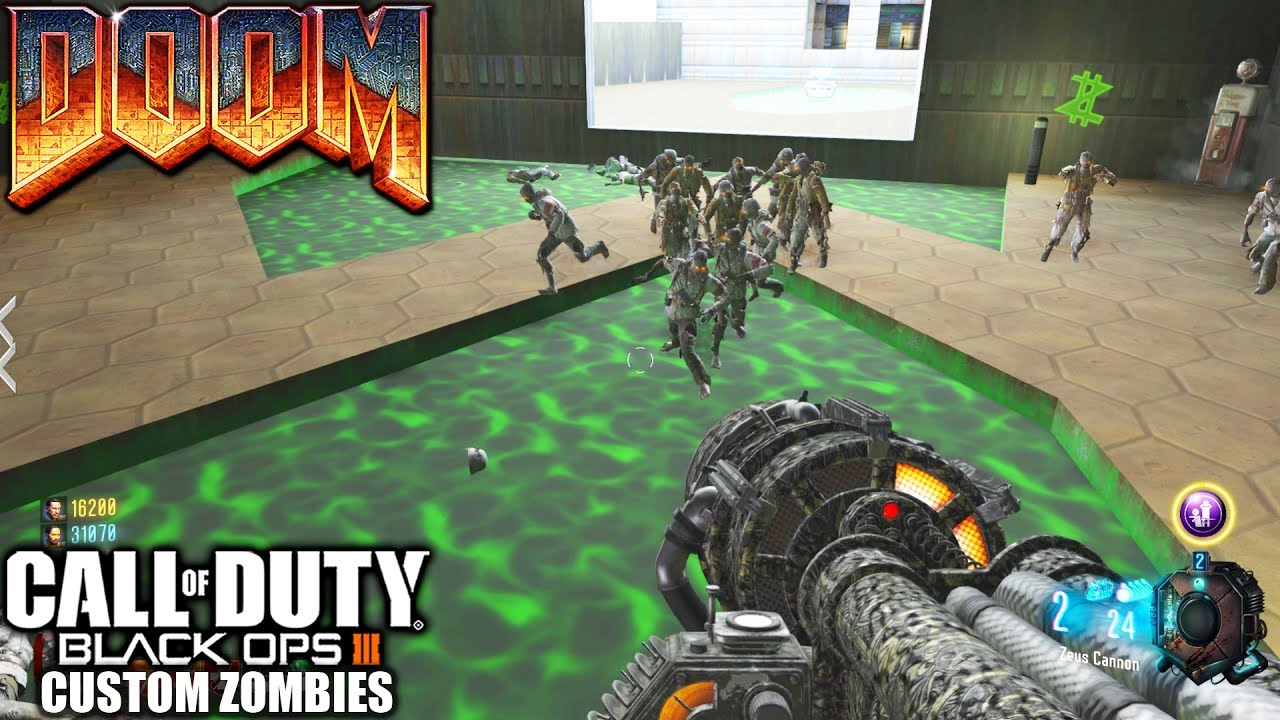 FINALMENTE UM MAPA DO DOOM - Black Ops 3 - Custom Zombies - DOOM E1M1