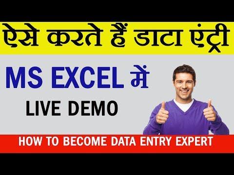 Data Entry Kaise Karte Hai || Data Entry For Job In Excel In Hindi ||
