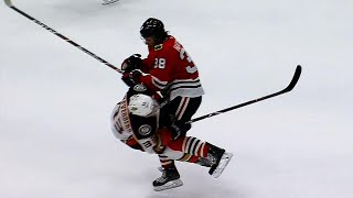 Hartman levels Silfverberg with clean wrecking ball hit
