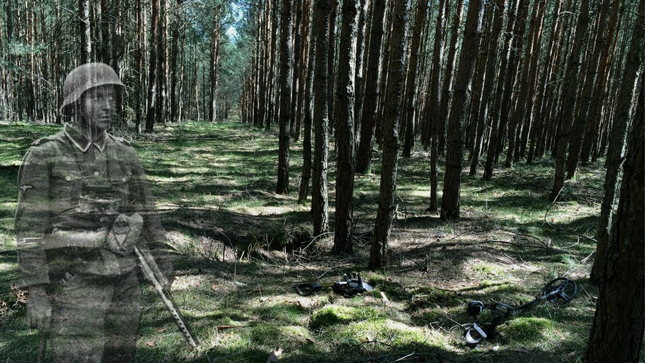 Metal detecting German woods for WW2 treasure