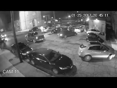 Cleveland gang related shootout captured on video. Warning Violence!
