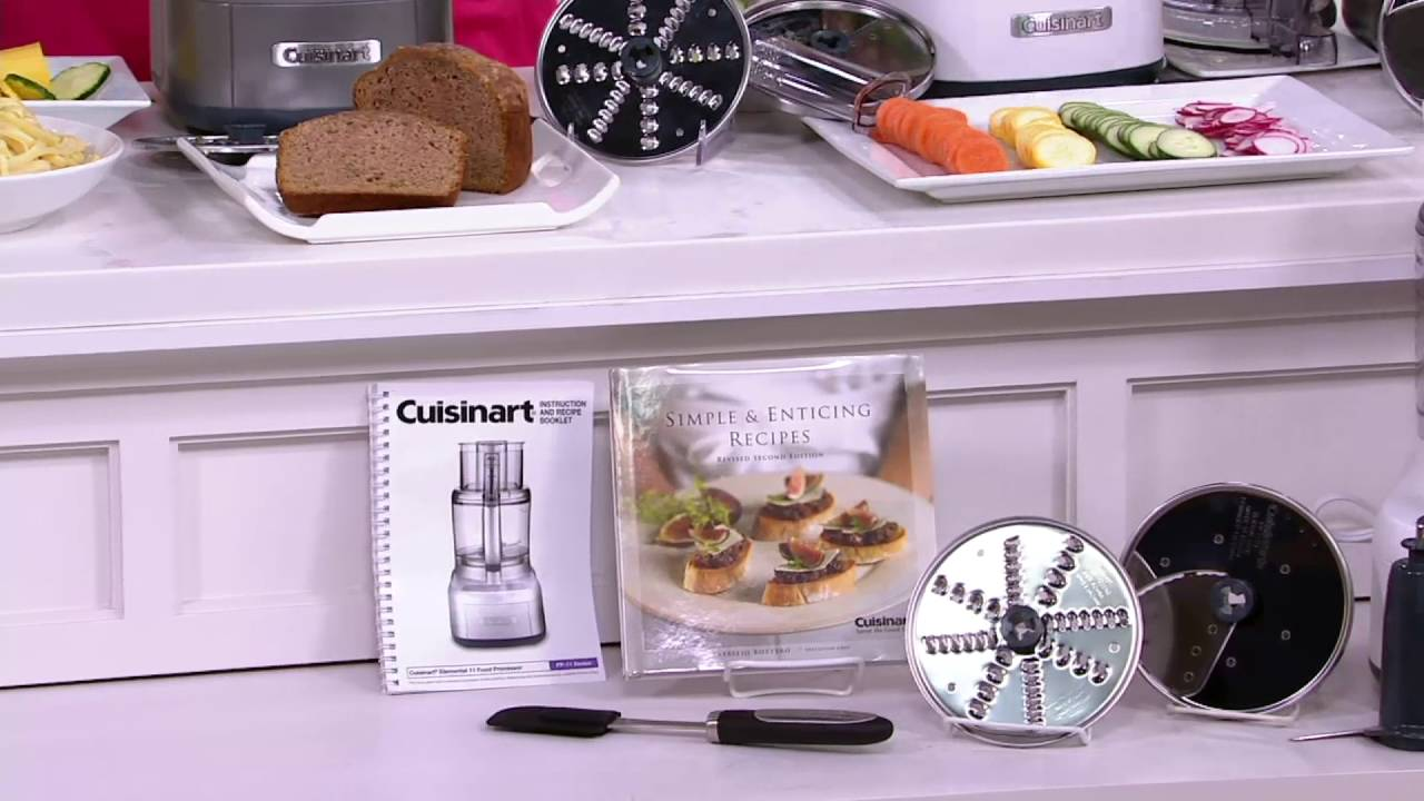 Cuisinart 11 cup food processor w 2 discs spatula recipe book cuisinart 11 cup food processor w 2 discs spatula recipe book on qvc forumfinder Image collections