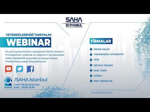 SAHA İstanbul Makine ve Diğer İmalat Ekipmanları Komitesi 09.06.2020 Canlı Yayını.