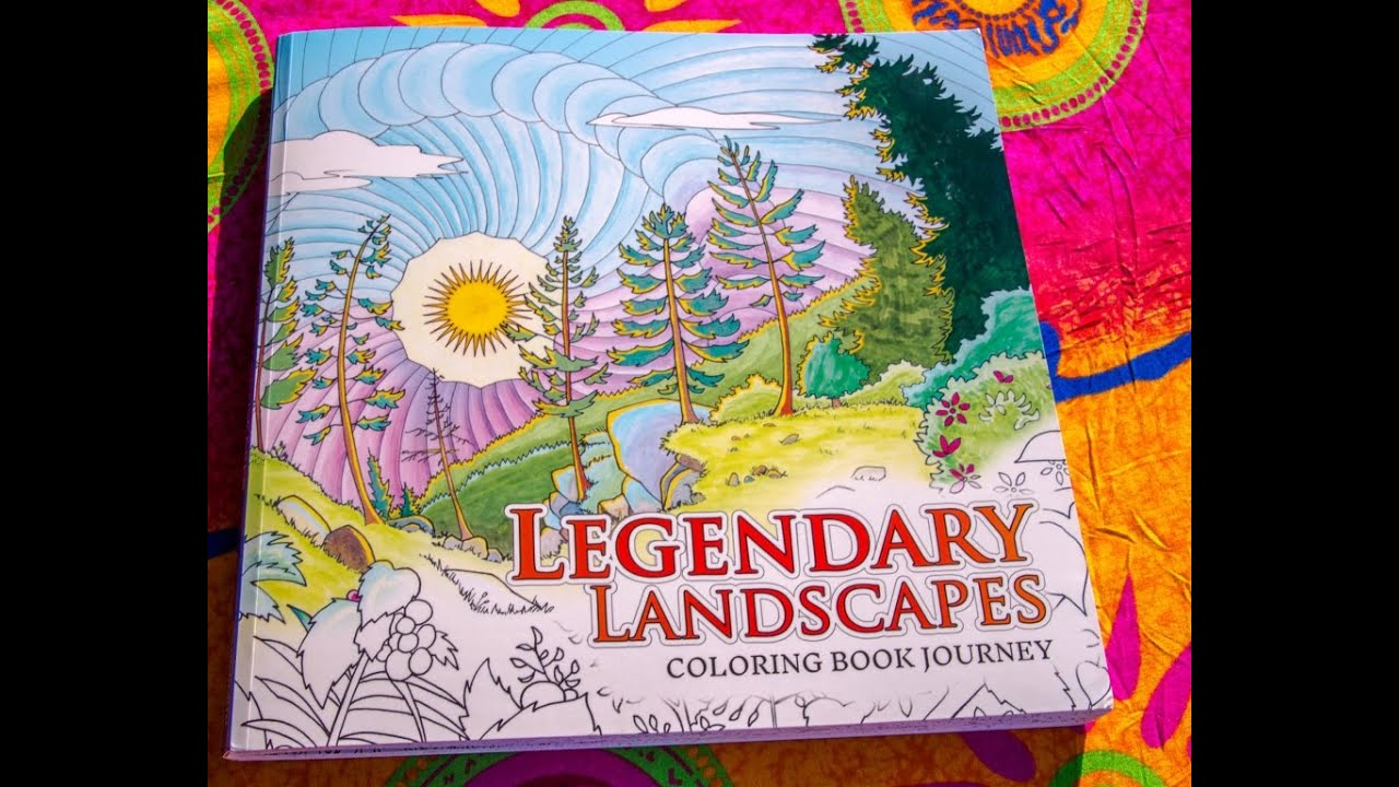 Legendary Landscapes Coloring Book