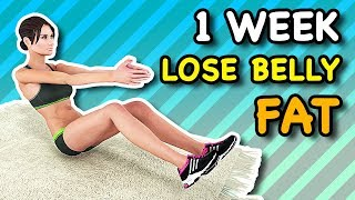 1 Week Lose Belly Fat At Home