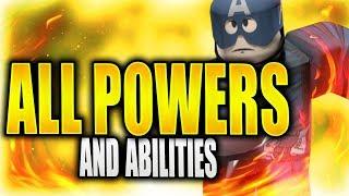 TODOS OS PODERES E HABILIDADES | Super Hero Adventures online em Roblox | o iBeMaine