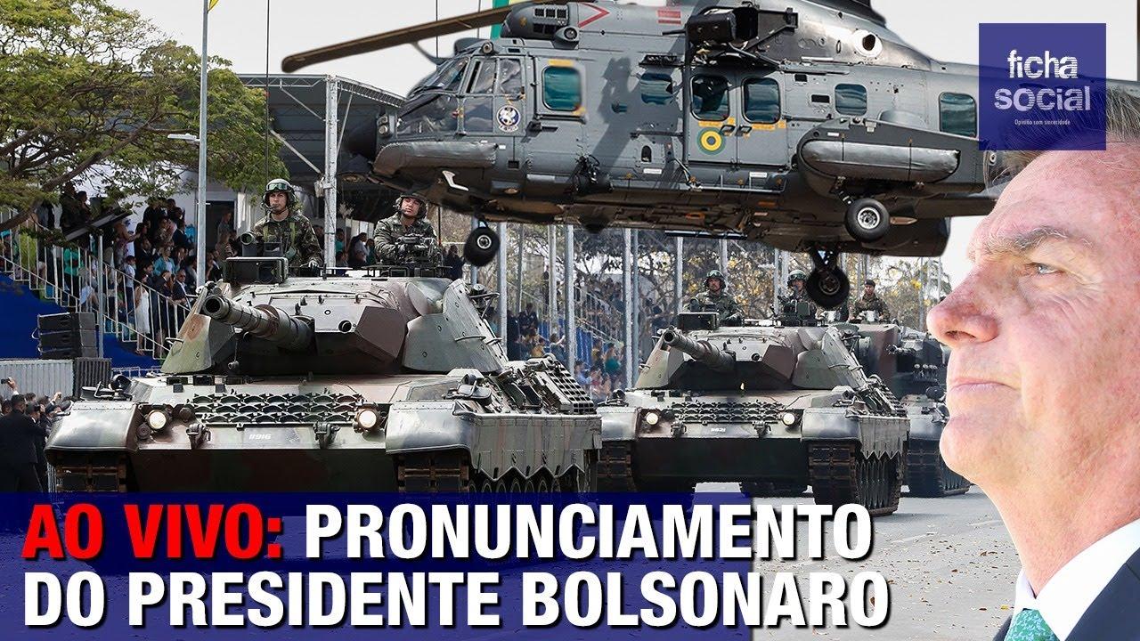 AO VIVO: PRESIDENTE BOLSONARO FAZ PRONUNCIAMENTO PARA PARAQUEDISTAS DO EXÉRCITO BRASILEIRO