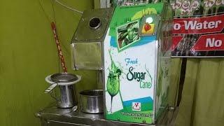 Sugarcane Juice Prepare  | Cane Crusher Juice 2018