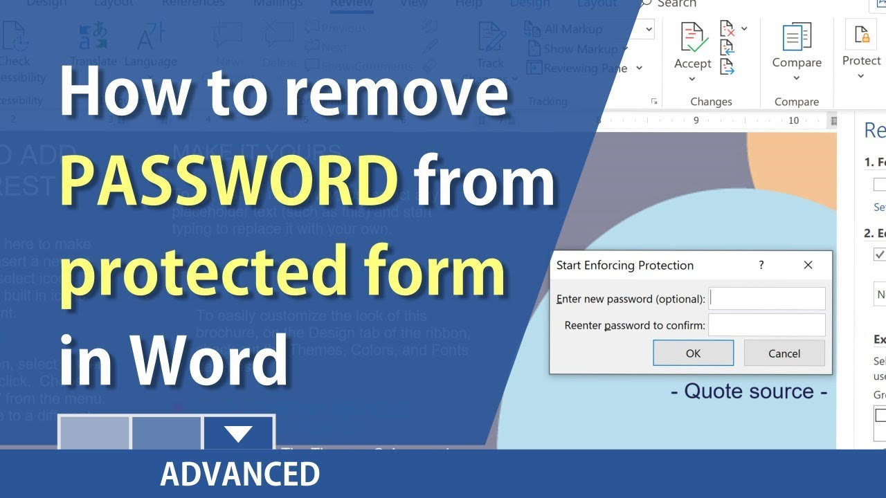 how to remove password from word