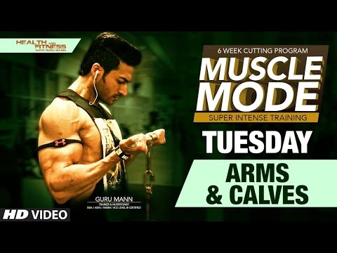 TUESDAY – Arms and Calves | MUSCLE MODE by Guru Mann | Health & Fitness