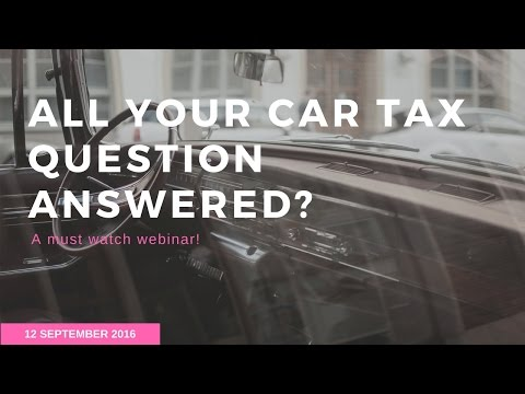 All your Car Tax questions Answered - Webinar