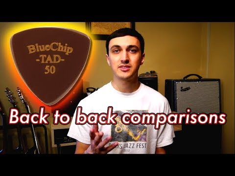 This Is A $35 Guitar Pick... What's The Difference? // Blue Chip Comparison