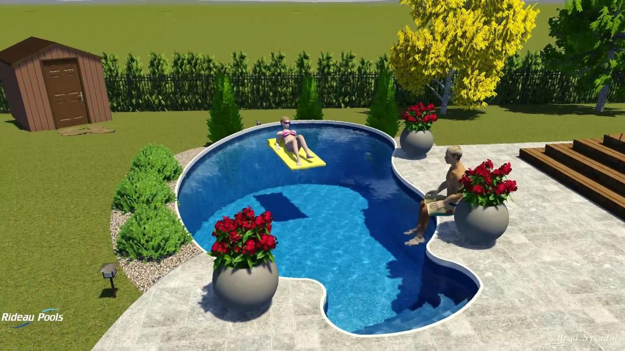 12 x 22 kidney semi inground pool by rideau pools ottawa for Pool design ottawa