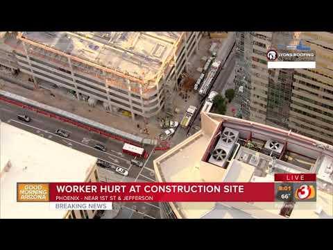 VIDEO: Worker hurt at Phoenix constructiion site