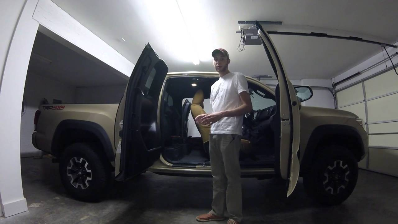 2016 Tacoma Access Cab Storage And Interior Space   YouTube
