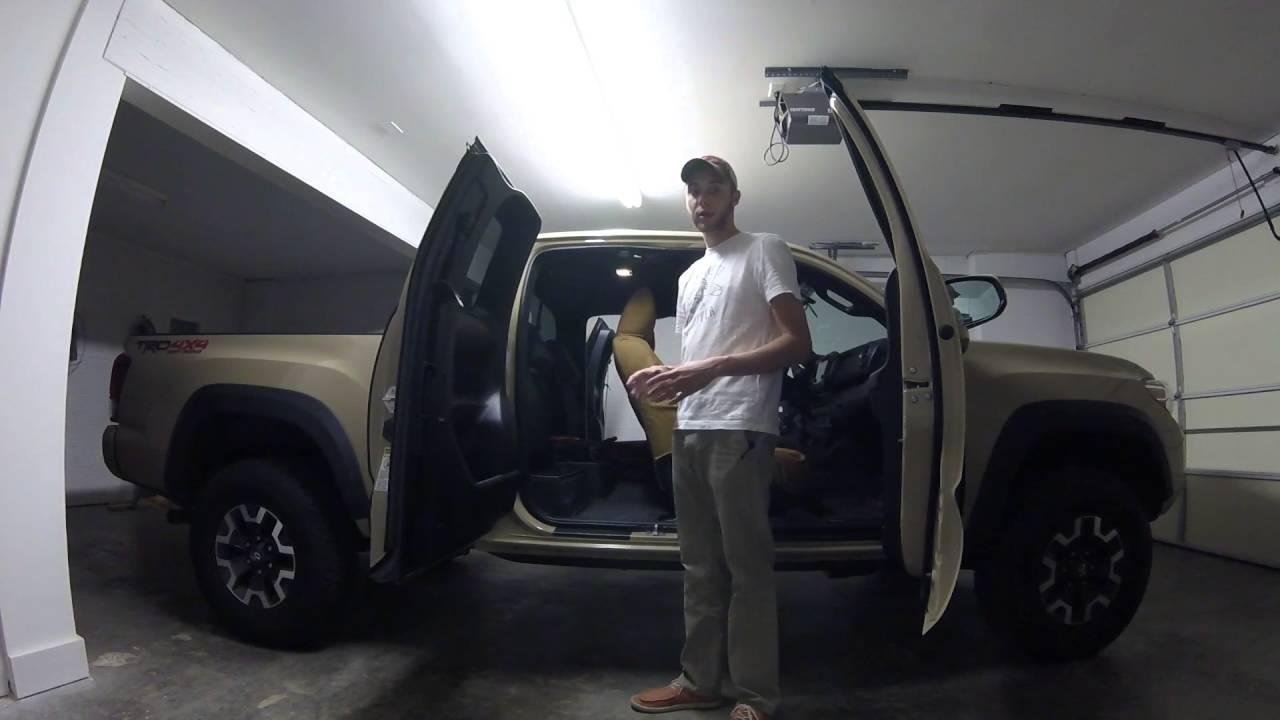 2016 Toyota Tacoma Access Cab >> 2016 Tacoma Access Cab Storage and Interior Space - YouTube