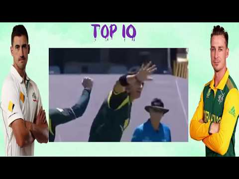 Top 10 Fastest Bowlers in current cricket  in the world furious fast bowlers