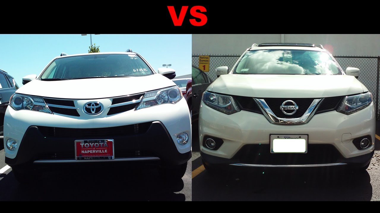 2015 toyota rav4 vs 2016 nissan rogue youtube. Black Bedroom Furniture Sets. Home Design Ideas