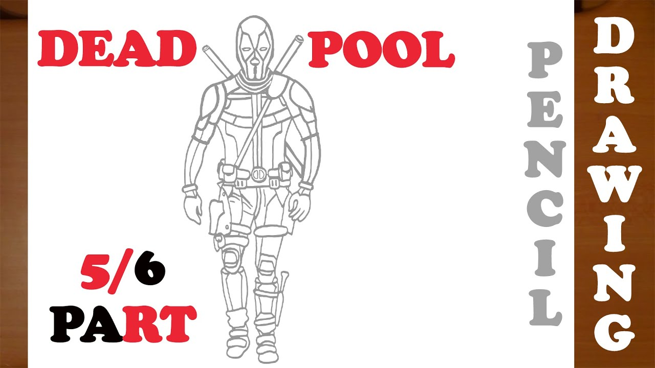 Deadpool Drawing Easy Full Body Background