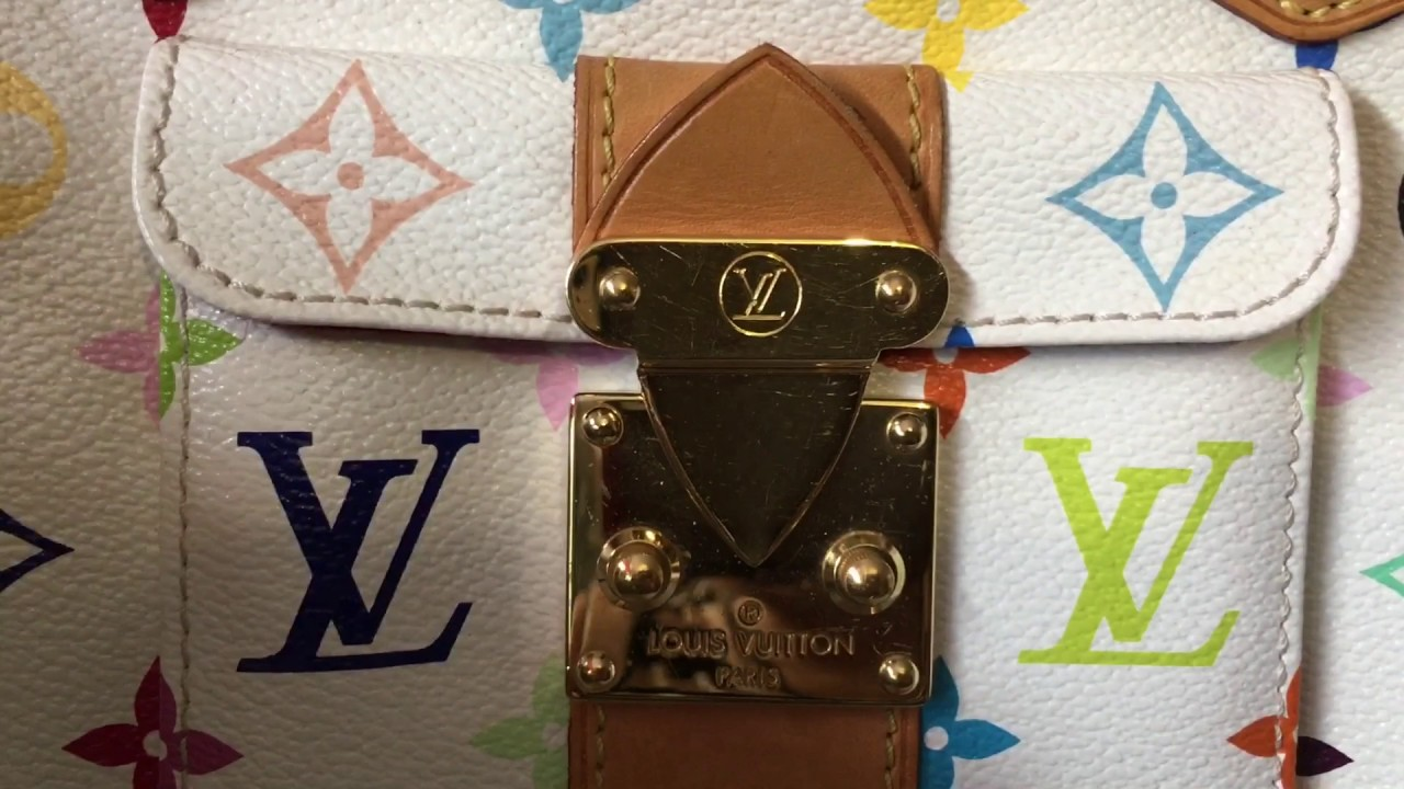 41417821f6bbd How to spot a real authentic Louis Vuitton SPEEDY 30 Monogram Multicolor  Canvas Bag (HD)